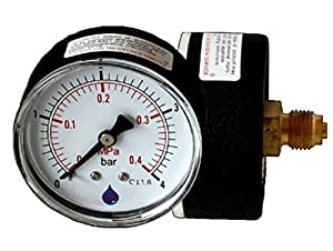 "63mm línea 0-1 BAR trasero Indicador de presión de entrada 1/4 ""BSP Manómetro"