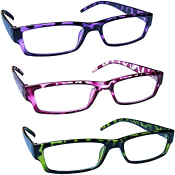 71eac98106ca The Reading Glasses Company Purple Pink Green Lightweight Comfortable  Readers Value 3 Pack Mens Womens RRR32-546 +1.75