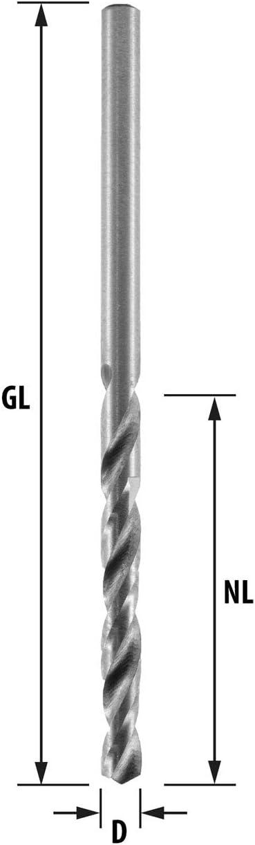 ENT DURADRILL HSS-G Premium 11 mm de longitud /útil y 39 mm de longitud total Brocas para madera en pack de 5 piezas de 1,5 mm de di/ámetro