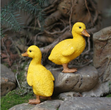 [Urparcel Resin Duck figures Garden decoration,Outdoor statue,Yard decoration (a pair)] (Garden Figure)