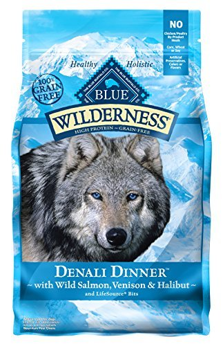 Blue Buffalo Salmon Dinner (Wilderness Blue Buffalo Denali Dinner Dog Food, 4 lb by BLUE Wilderness)