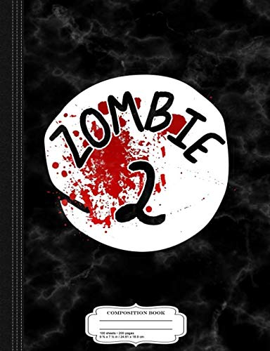 (Couples Zombie 2 Halloween Costume Composition Notebook: College Ruled 9¾ x 7½ 100 Sheets 200 Pages For)