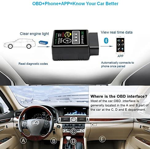 Friencity Bluetooth Auto Obd Ii 2 Obd2 Scanner Adapter Fahrzeug Motor Codeleser Für Auto Diagnosescan Tool Check Motor Licht Kompatibel Mit Android Windows Geräte Nicht Für Ios Auto