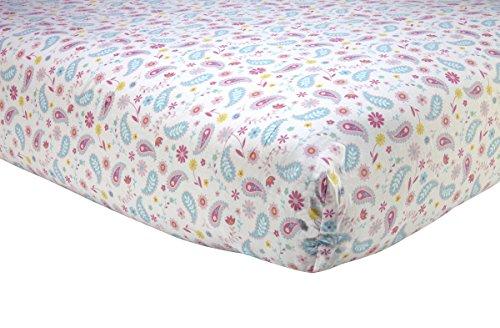 Sadie & Scout Chelsea - Pink Paisley Print Crib Sheet (Sheet Crib Paisley)