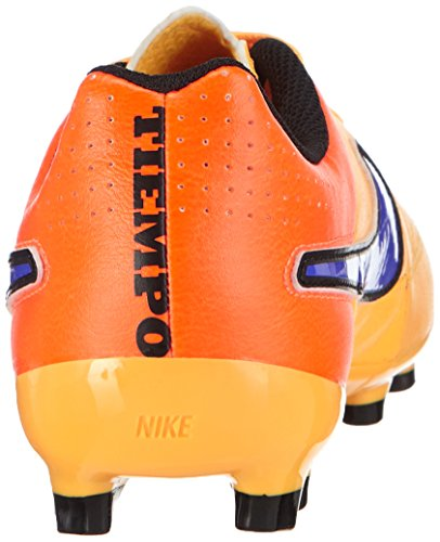 Nike Kids Jr Tiempo Genio Lederen Fg Voetbal Cleat Laser Oranje / Totaal Oranje / Volt / Perzisch Violet