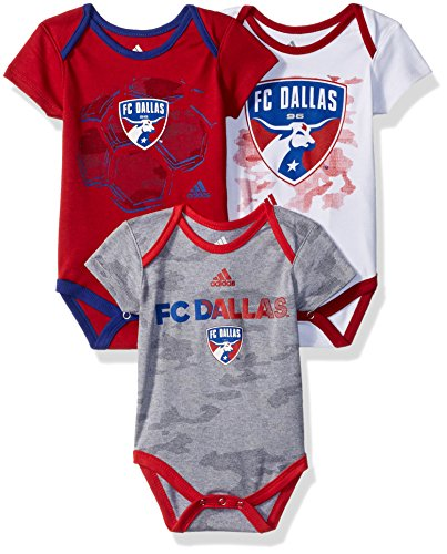 1 Set Creeper (MLS FC Dallas Boys Hat Trick 3 Pack Creeper Set, White, 0-3 Months)