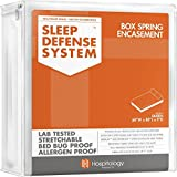 Hospitology Sleep Defense System Bed Bug Proof Box Spring Encasement, 80-Inch by 60-Inch, Queen