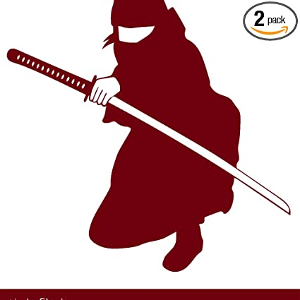 Amazon.com: NBFU DECALS Samurai Silhouette Warrior Ninja 7 ...