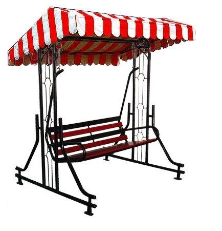 Kaushalendra Garden Zula Swing Outdoor Swing Terrace Iron Patio Stand Hammock