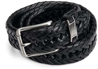 "Nautica Men's 1 1/4"" Braided Belt,Black,32"