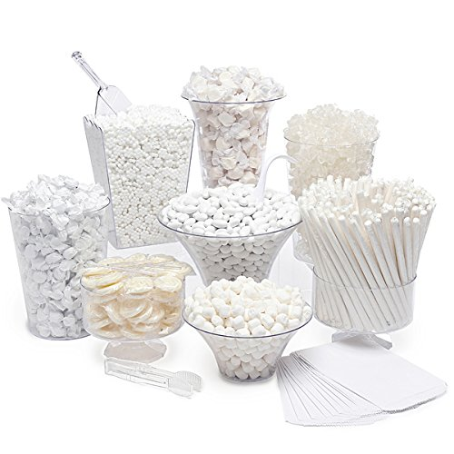 White Candy Kit - Party Candy Buffet Table: 25 to 50 Guests