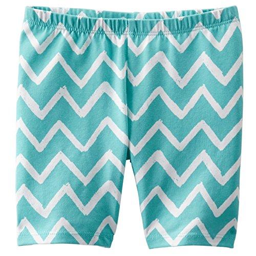 Oshkosh Girl's Zig Zag Playground Shorts (4 Toddler, Turquoise)