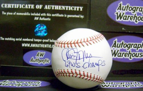 Cleon Jones Autographed Baseball (Autograph Warehouse 15371 Cleon Jones Autographed Baseball Inscribed 69 Wsc)