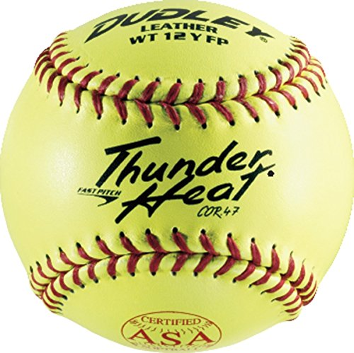Dudley ASA Thunder Heat Fast Pitch Leather 12-Inch Soft Ball Pack of 12 4A-147Y
