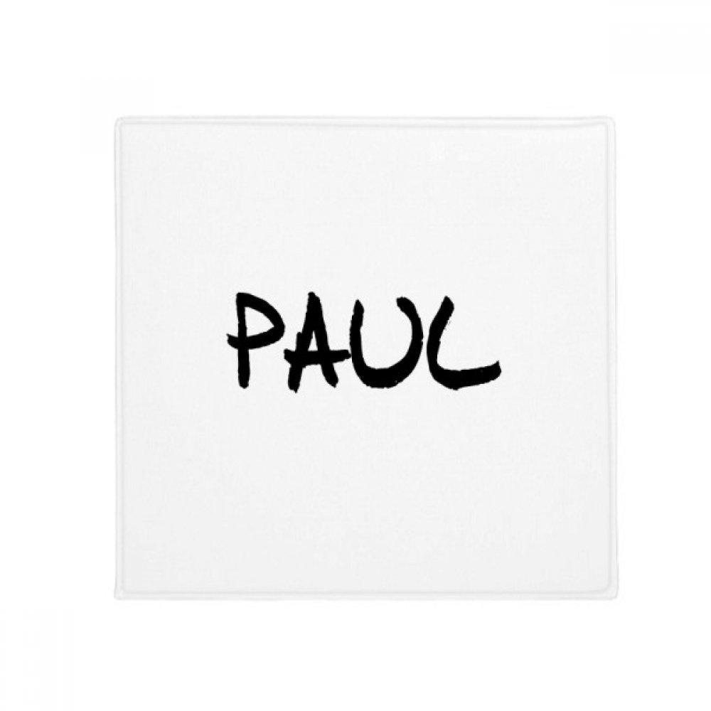 DIYthinker Special Handwriting English Name Paul Anti-Slip Floor Pet Mat Square Home Kitchen Door 80Cm Gift