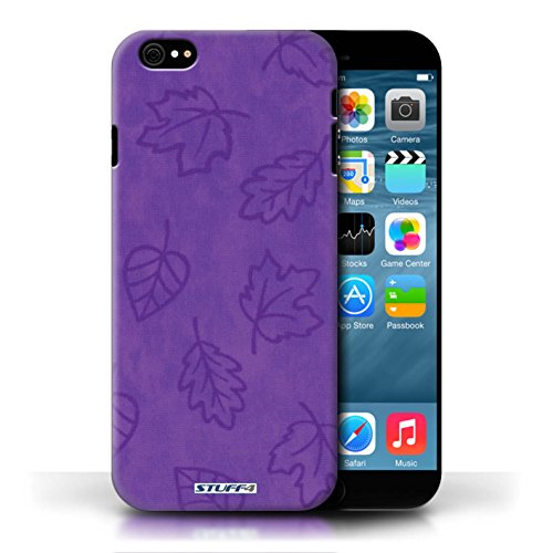 Etui pour Apple iPhone 6/6S / Pourpre conception / Collection de Motif Feuille/Effet Textile