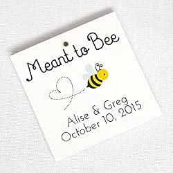 Meant to Bee Honey Wedding Favor Tags (SQ-277)