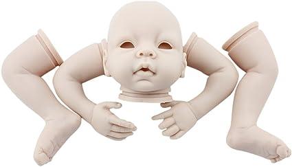 "Make Your Own Doll DIY head.limbs.body.eyes Unpainted 20/"" Reborn Doll Kit Mold"