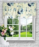 Ellis Curtain Sanctuary Rose 50-by-15 Inch Lined Duchess Filler Valance, Cornflower