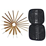 Mixed Aluminum Handle Crochet Hooks Kit Bamboo