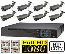 USG 1080p HD-SDI 16 Channel Kit: 1x 16 Ch DVR + 8x 2.8-12mm Bullet Cameras + 1x 4TB HDD *** High Definition CCTV Video Surveillance