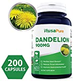 Cheap Best Dandelion 900mg 200 Capsules (Non-GMO & Gluten Free) Taraxacum Officinale – Helps to Detox Cleanse Kidney, Liver & Whole Body – 450mg per Caps ★★★100% Money Back Guarantee!★★★