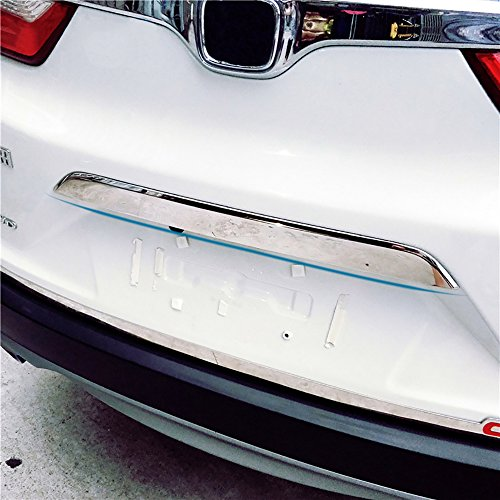 Chrome Trunk Lid Trim (Kust hst38422w Chrome Rear Trunk Lid Tailgate Door Cover Trim, Molding Trim Molding Cover fit for Honda crv 2017,Pack of 1 Piece of Door Trunk Lid Cover decorate Trim Cover)