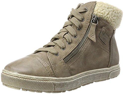 Jana 26205 Dames Hoge Sneaker Beige (taupe Kam)