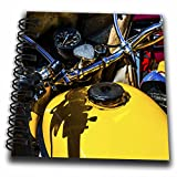 dash board notepad - 3dRose Alexis Photography - Transport Road - Yellow fuel tank, dashboard and a handle bar of a motorcycle - Mini Notepad 4 x 4 inch (db_271950_3)