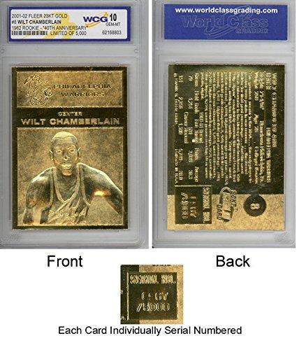 WILT CHAMBERLAIN 1961-62 Fleer ROOKIE 23KT Gold Card Sculpted Graded GEM MINT ()