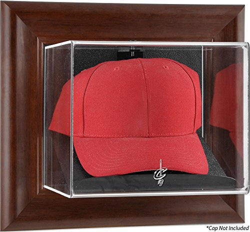 - Sports Memorabilia Cleveland Cavaliers Team Logo Brown Framed Wall-Mounted Cap Case - Basketball Hat Logo Display Cases