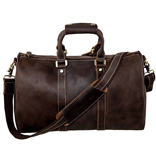 S ZONE Genuine Leather Luggage Handbag