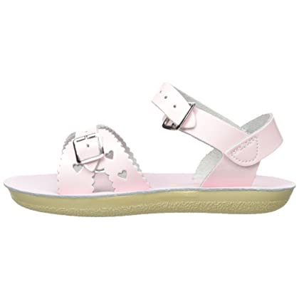 a12f85419a16 ... Shiny Salt Water Sandals by Hoy Shoe Girls  Sun-San Sweetheart Flat  Sandal
