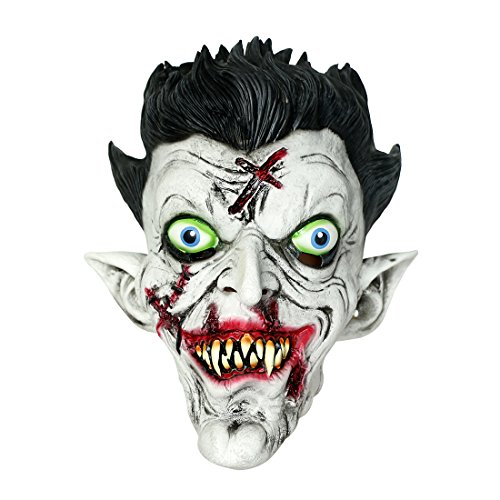 MISHIN Halloween Masquerade Party Scary Latex Zombie Vampire Full Head (Masquerade Halloween Party Ideas)