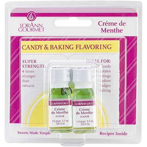 Lorann Oils Candy and Baking Flavoring Bottle (2 Pack), .125 oz, Creme De Menthe