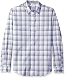 Image of Calvin Klein Men's Long Sleeve Large Scale Herringbone Plaid Button Down Shirt, Cavern Rock