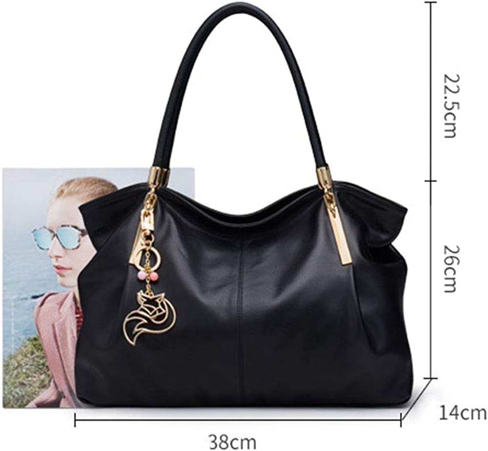 Fashion leather handbag shoulder bag large capacity handbag,Leather tote bags for women Brown