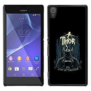 "For Sony Xperia T3 , S-type Dios del trueno"" - Arte & diseño plástico duro Fundas Cover Cubre Hard Case Cover"