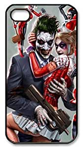 Joker and Harley Quinn Custom iPhone 4s/4 Case Cover Polycarbonate Black Thanksgiving Day gift