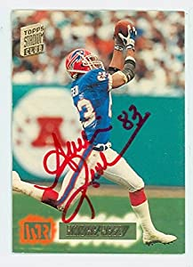 Andre Reed AUTOGRAPH 1994 Topps Stadium Club Buffalo Bills HOF '14