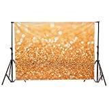 MOHOO 7X5ft Silk Photography Background Gold Glitter Photography Background Photo studio Backdrop Props 2.1x1.5m