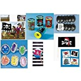 120 Pc PIRATE PARTY FAVORS Set/TATTOOS/Stickers/FLAGS/EYE PATCHES/Etc KIT