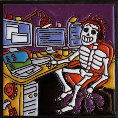 6x6-computer-geek-day-of-the-dead-clay-tile