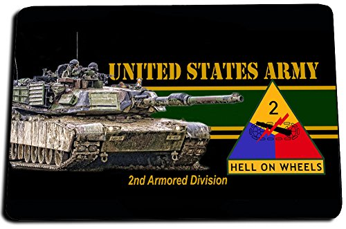 Army Door - Brotherhood 2nd Armored Division Hell On Wheels United States Army Door Mat Rug