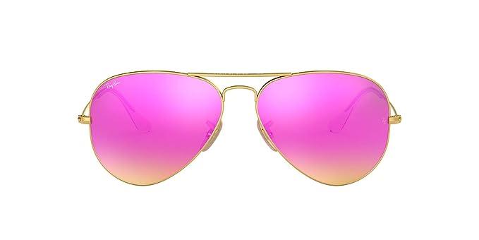 Ray-Ban 3025 Aviator - Gafas de sol (metal, espejadas, no ...