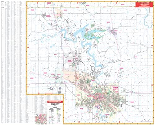 Amazoncom Iowa City IA City Wall Maps 9780762538867 Kappa