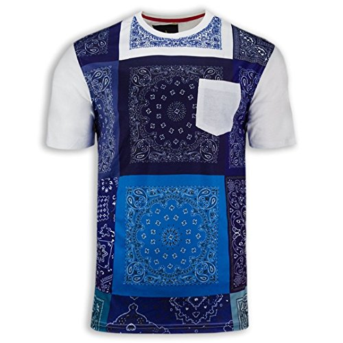 Trending Apparel New Men Bandana Print Shirts Chest Pocket