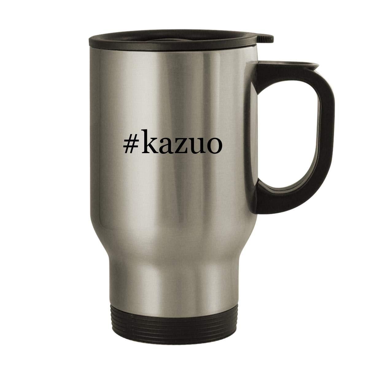 #kazuo - Stainless Steel Hashtag 14oz Travel Mug, Silver