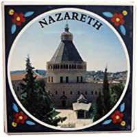 Annunciation Church Display Ceramic Fridge Magnet 3 From Holy Land
