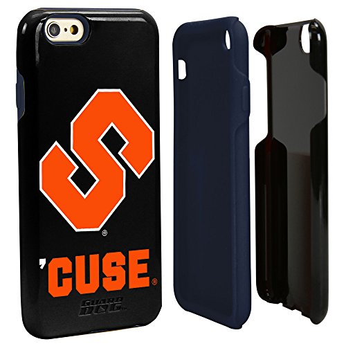 (Guard Dog Syracuse Orange Hybrid Case for iPhone 6 / 6s with Guard Glass Screen Protector - Black)